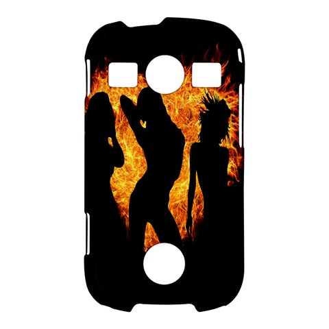 Heart Love Flame Girl Sexy Pose Samsung Galaxy S7710 Xcover 2 Hardshell Case