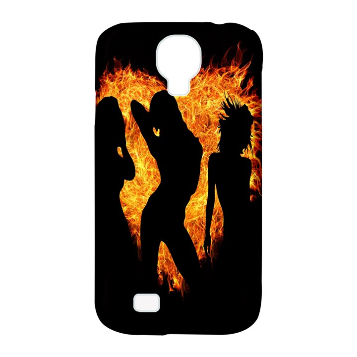 Heart Love Flame Girl Sexy Pose Samsung Galaxy S4 Classic Hardshell Case (PC+Silicone)