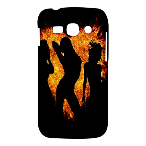 Heart Love Flame Girl Sexy Pose Samsung Galaxy Ace 3 S7272 Hardshell Case