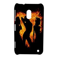 Heart Love Flame Girl Sexy Pose Nokia Lumia 620
