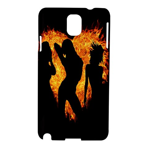Heart Love Flame Girl Sexy Pose Samsung Galaxy Note 3 N9005 Hardshell Case
