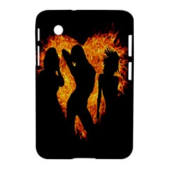 Heart Love Flame Girl Sexy Pose Samsung Galaxy Tab 2 (7 ) P3100 Hardshell Case