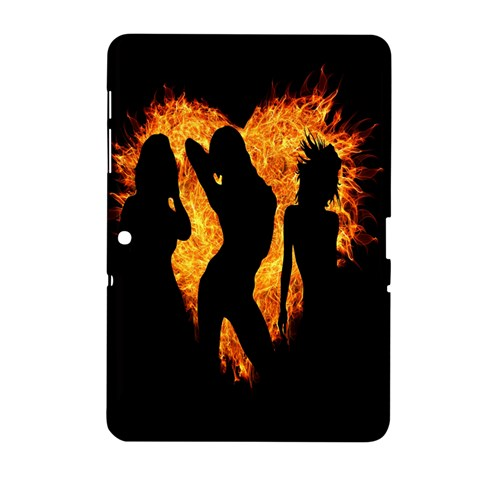 Heart Love Flame Girl Sexy Pose Samsung Galaxy Tab 2 (10.1 ) P5100 Hardshell Case