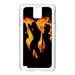 Heart Love Flame Girl Sexy Pose Samsung Galaxy Note 3 N9005 Case (White) Front