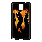 Heart Love Flame Girl Sexy Pose Samsung Galaxy Note 3 N9005 Case (Black) Front