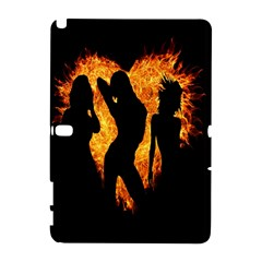 Heart Love Flame Girl Sexy Pose Samsung Galaxy Note 10.1 (P600) Hardshell Case