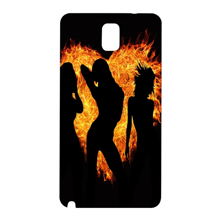 Heart Love Flame Girl Sexy Pose Samsung Galaxy Note 3 N9005 Hardshell Back Case
