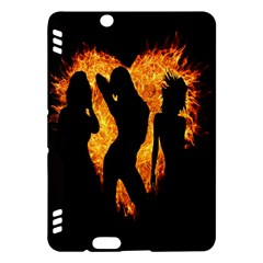 Heart Love Flame Girl Sexy Pose Kindle Fire HDX Hardshell Case