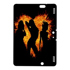 Heart Love Flame Girl Sexy Pose Kindle Fire HDX 8.9  Hardshell Case