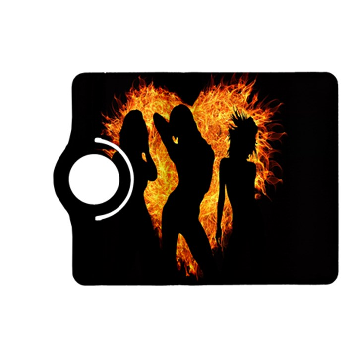 Heart Love Flame Girl Sexy Pose Kindle Fire HD (2013) Flip 360 Case