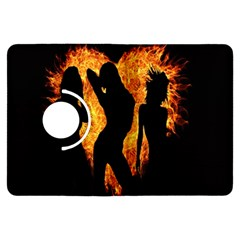 Heart Love Flame Girl Sexy Pose Kindle Fire HDX Flip 360 Case