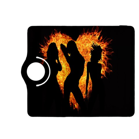 Heart Love Flame Girl Sexy Pose Kindle Fire HDX 8.9  Flip 360 Case