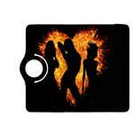 Heart Love Flame Girl Sexy Pose Kindle Fire HDX 8.9  Flip 360 Case Front