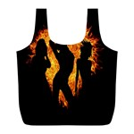 Heart Love Flame Girl Sexy Pose Full Print Recycle Bags (L)  Front