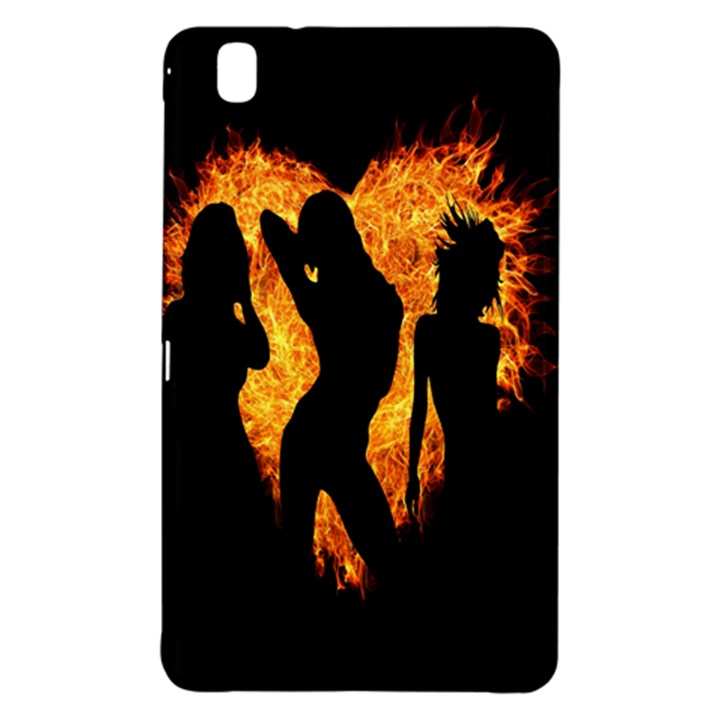 Heart Love Flame Girl Sexy Pose Samsung Galaxy Tab Pro 8.4 Hardshell Case
