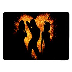 Heart Love Flame Girl Sexy Pose Samsung Galaxy Tab Pro 12.2  Flip Case