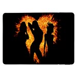 Heart Love Flame Girl Sexy Pose Samsung Galaxy Tab Pro 12.2  Flip Case Front