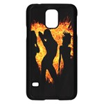 Heart Love Flame Girl Sexy Pose Samsung Galaxy S5 Case (Black) Front