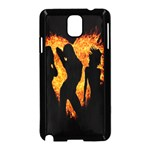Heart Love Flame Girl Sexy Pose Samsung Galaxy Note 3 Neo Hardshell Case (Black) Front