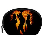 Heart Love Flame Girl Sexy Pose Accessory Pouches (Large)  Front