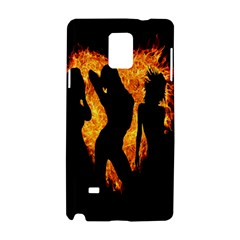 Heart Love Flame Girl Sexy Pose Samsung Galaxy Note 4 Hardshell Case
