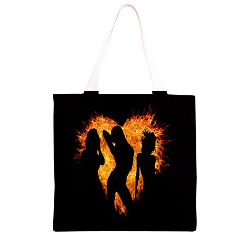 Heart Love Flame Girl Sexy Pose Grocery Light Tote Bag