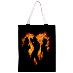 Heart Love Flame Girl Sexy Pose Classic Light Tote Bag