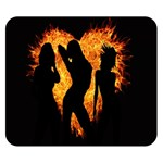 Heart Love Flame Girl Sexy Pose Double Sided Flano Blanket (Small)  50 x40 Blanket Back