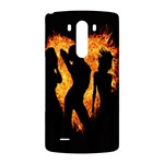 Heart Love Flame Girl Sexy Pose LG G3 Back Case Front