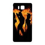 Heart Love Flame Girl Sexy Pose Samsung Galaxy Alpha Hardshell Back Case Front