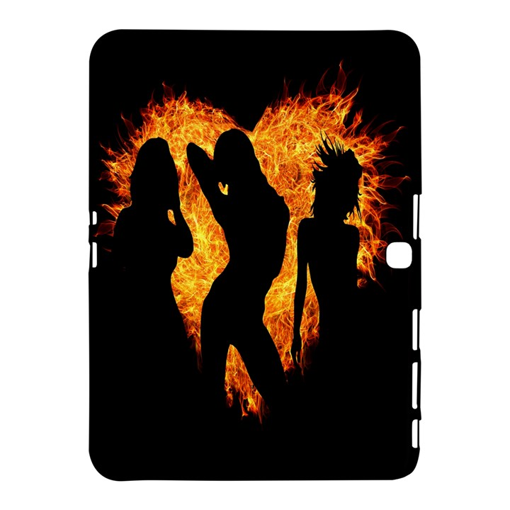 Heart Love Flame Girl Sexy Pose Samsung Galaxy Tab 4 (10.1 ) Hardshell Case