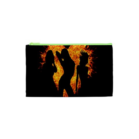 Heart Love Flame Girl Sexy Pose Cosmetic Bag (XS)