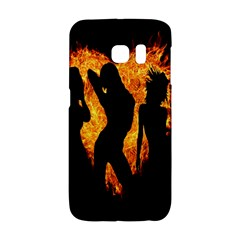 Heart Love Flame Girl Sexy Pose Galaxy S6 Edge