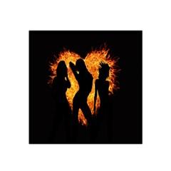 Heart Love Flame Girl Sexy Pose Satin Bandana Scarf