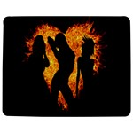 Heart Love Flame Girl Sexy Pose Jigsaw Puzzle Photo Stand (Rectangular) Front