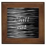 Black an white  Chill out  Framed Tiles Front