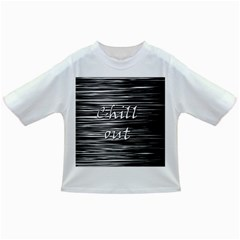 Black An White  chill Out  Infant/toddler T Shirts