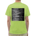 Black an white  Chill out  Green T-Shirt Back