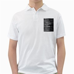 Black an white  Chill out  Golf Shirts