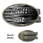 Black an white  Chill out  Money Clips (Oval)  Front