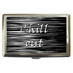 Black an white  Chill out  Cigarette Money Cases Front