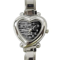 Black An White  chill Out  Heart Italian Charm Watch