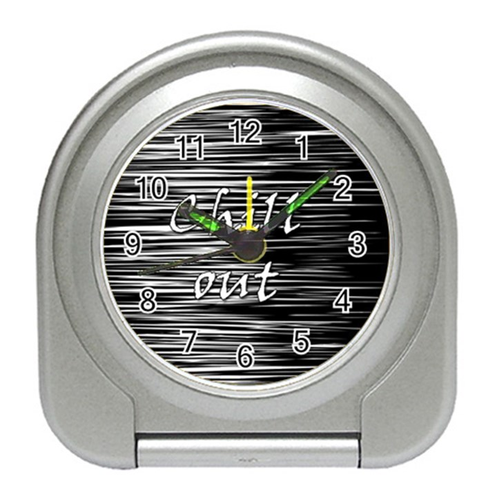 Black an white  Chill out  Travel Alarm Clocks