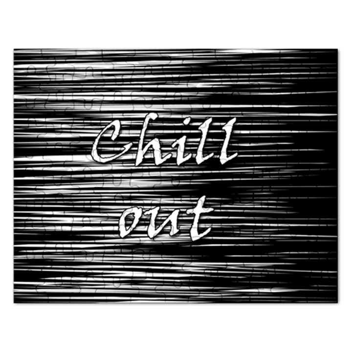 Black an white  Chill out  Rectangular Jigsaw Puzzl