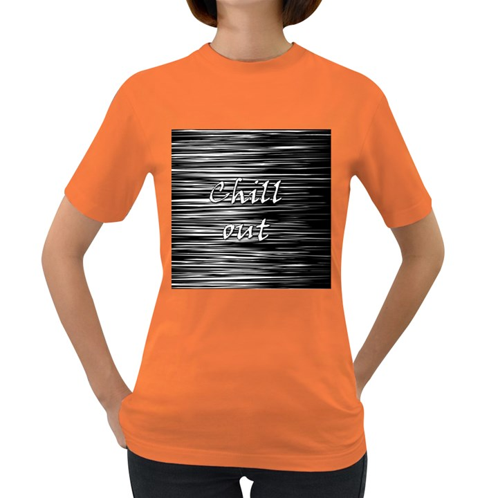 Black an white  Chill out  Women s Dark T-Shirt