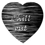 Black an white  Chill out  Jigsaw Puzzle (Heart) Front