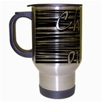 Black an white  Chill out  Travel Mug (Silver Gray) Left
