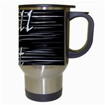 Black an white  Chill out  Travel Mugs (White) Right