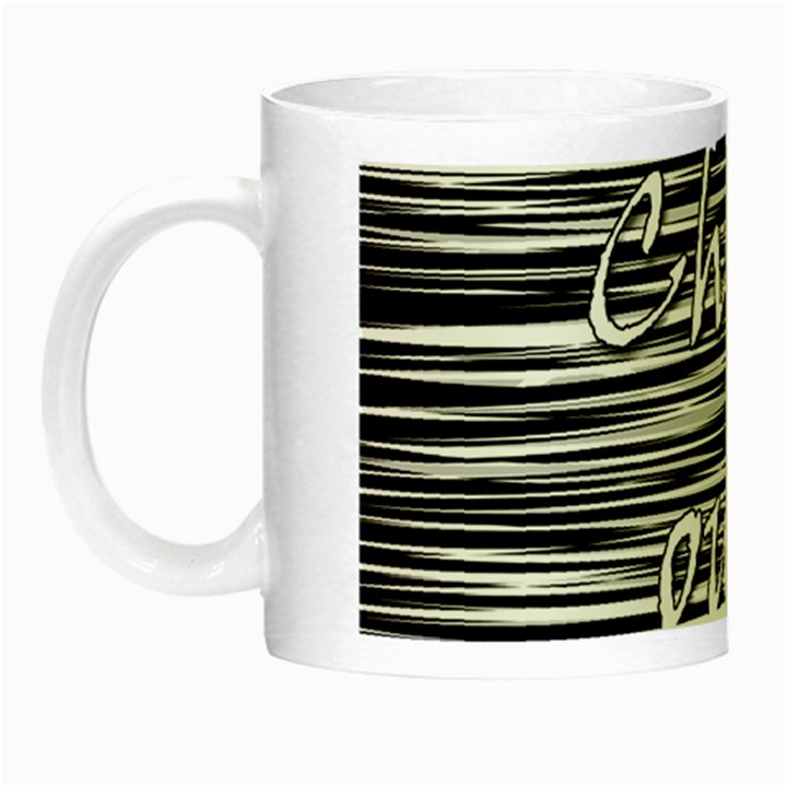 Black an white  Chill out  Night Luminous Mugs
