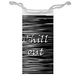 Black an white  Chill out  Jewelry Bags Front